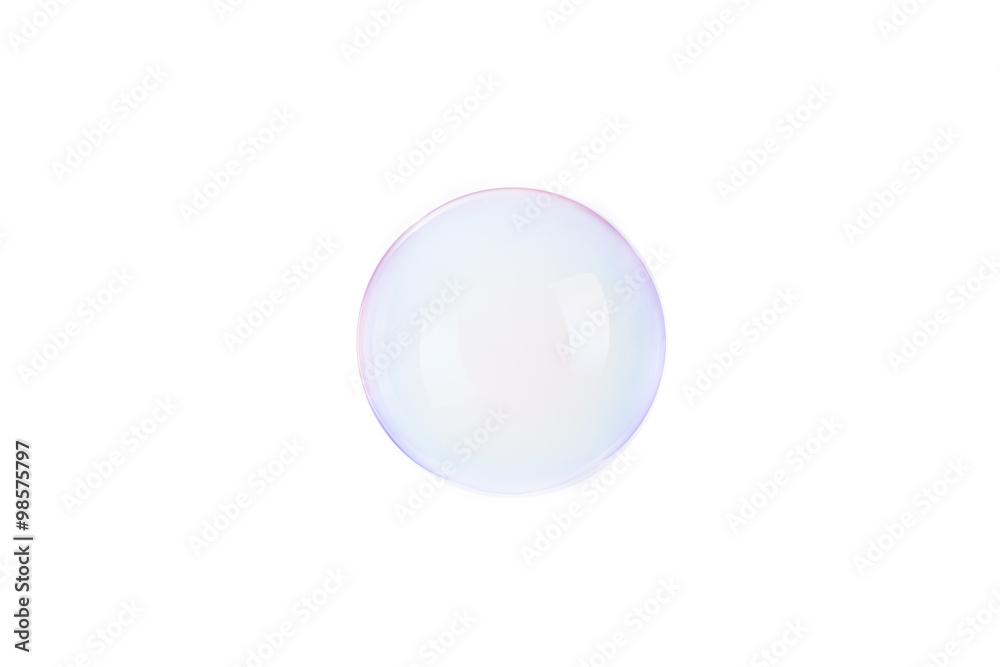 Fototapeta Bolla di sapone isolata su sfondo bianco