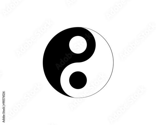 Photo  Ying yang symbol of harmony and balance