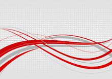 Abstract Wavy Background. Red ...
