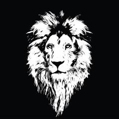 Fototapeta Lew Portrait of a Beautiful lion, lion in the dark