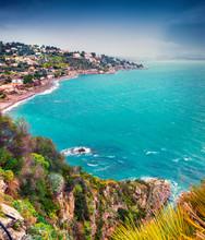 Azure Mediterranean Sea Before...