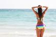 Woman in bikini at the sea