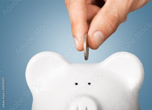 Savings. Fototapeta