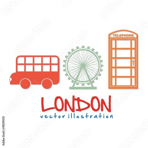 Poster Doodle london city design