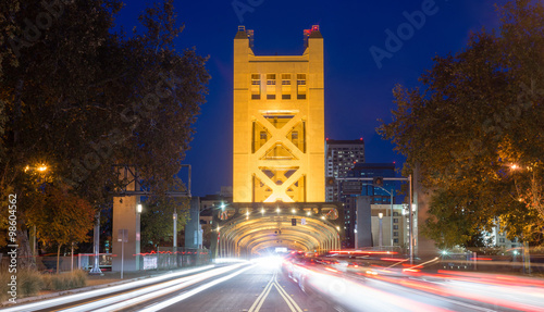 Tower Bridge Sacramento River Capital City California Downtown S