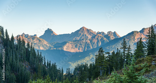Photo  some scene  from Artist point hiking area,scenic view in Mt Baker,Washington,USA
