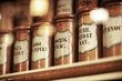 vintage medications in small bottles