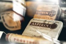 Vintage Medications In Small Bottles