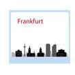 frankfurt city skyline in Germany