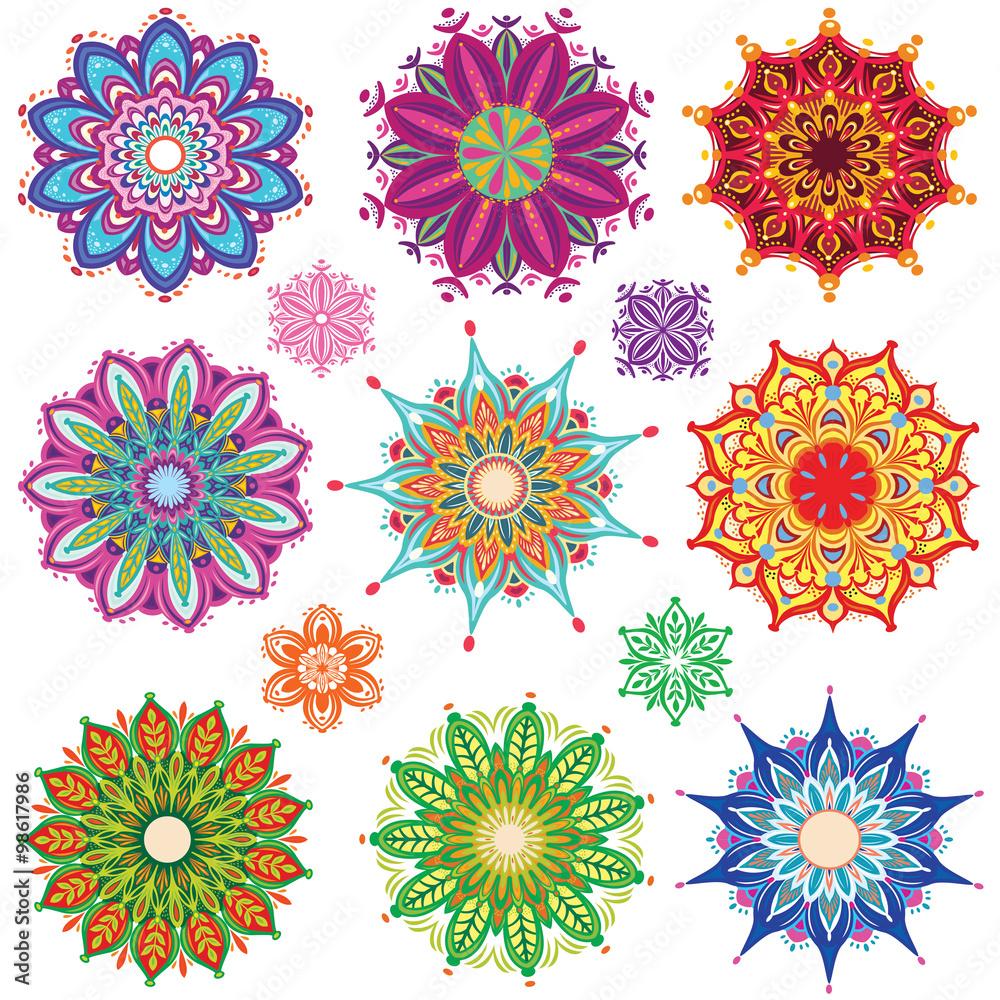 Photo  Set of Round Ornament Patterns