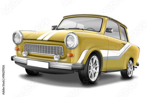 Poster  Trabant 601 Sport- berühmter DDR Oldtimer, freigestellt