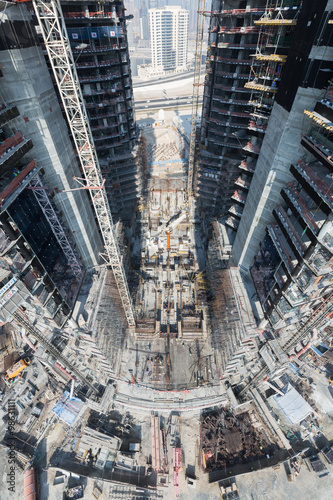 United Arab Emirates, Dubai, 05/21/2015, Damac Towers Dubai by Paramount, constr Canvas Print