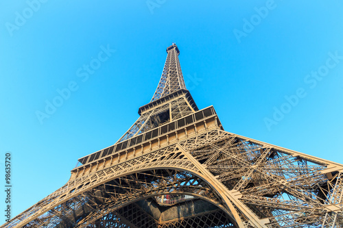 Fototapeta The Eiffel Tower in Paris obraz na płótnie