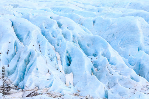 Poster Glaciers The blue ice of Svinafell Glacier national park