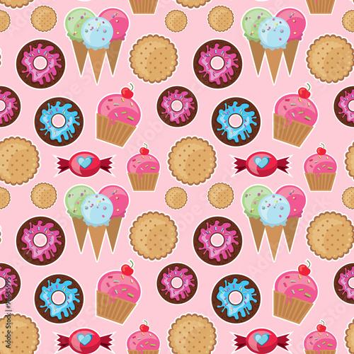 In de dag Kinderkamer Cool seamless pattern sweets.