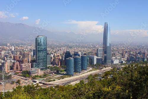 Photo  Panorama Santiago de Chile