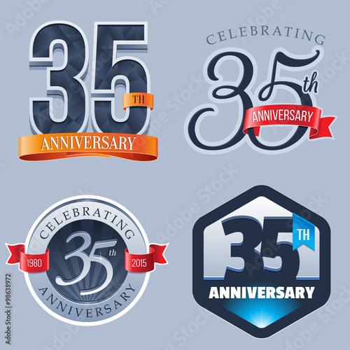 35 Years Anniversary Logo Buy This Stock Vector And Explore