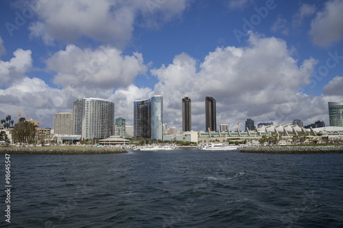 Fotografia, Obraz  San Diego City view of the Convention Center, harbor and Seaport Village Park