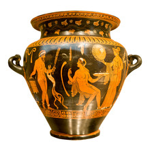 Ancient Greek Vase With Red Fi...