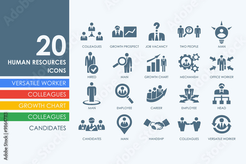 Fotografía  Set of human resources icons