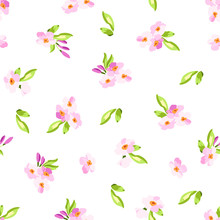 Pattern With Little Pink Flowers