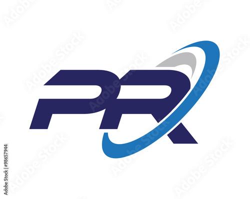 Fotografía  PR Letter Swoosh Logo