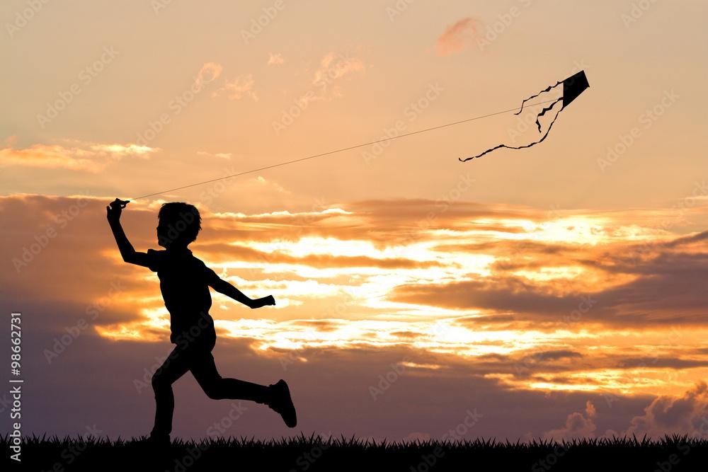 Fototapety, obrazy: child with kite