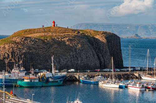 Canvas Print Stykkisholmur Harbor