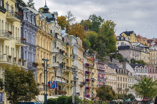 street in Karlovy Vary, Czech repablic Poster