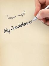 "Hand Writing ""My Condolences"" ..."