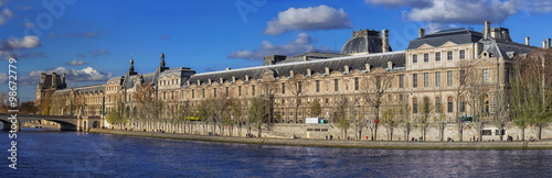 Photographie  Panoramic view on the Louvre