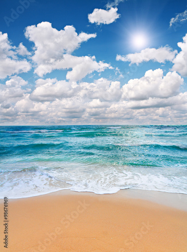 Aluminium Prints Landscapes Waves on the beach 3