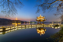 Beautiful Hangzhou In Twilight...
