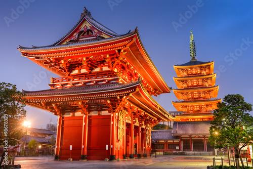 Poster Tokyo Asakusa Tokyo Shrine