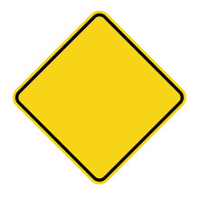 Blank Yellow Sign. Empty Squar...