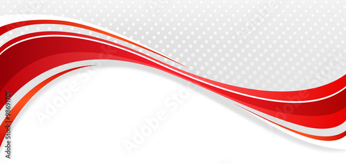Fotografie, Obraz  Abstract wavy background. The red lines on a gray background