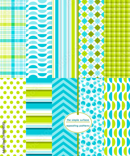 Repeating patterns for digital paper, scrapbooking, cards, invitations, gift wrap, and paper backgrounds. File includes: gingham/plaid, polka dots, stripes, chevron, argyle, and more. - 98698592