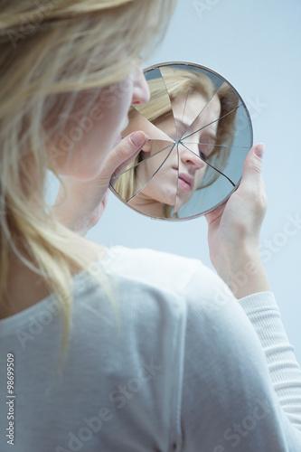 Fotografie, Obraz  Woman with low self-esteem