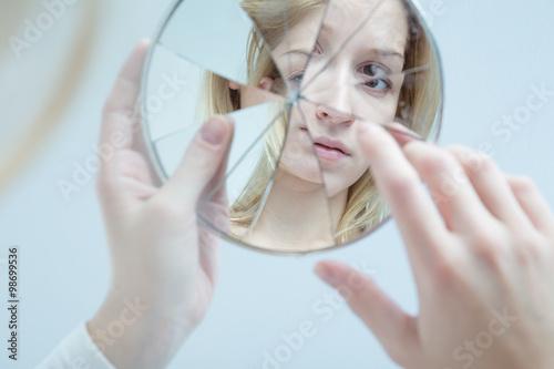 Fotografia  Insecure pretty woman