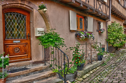 Fototapety, obrazy: France, picturesque village of Eguisheim in Alsace
