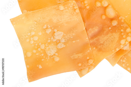Delicious  appetiser chinese cuisine deep fried wonton isolated on white backgro Wallpaper Mural