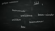 Language Learning Concept. Word - Hello - In Different International Languages.