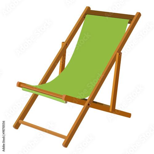 Fotografía Wooden chaise lounge