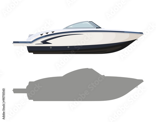 Obraz na płótnie White motorboat