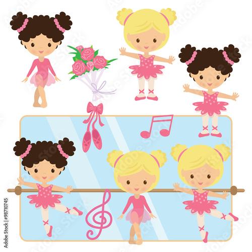 Fotografie, Tablou  Ballerina vector illustration
