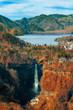 Lake Chuzenji with Kegon Waterfall at Nikko National Park