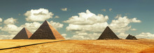 Egipt Panorama Pyramid With Hi...