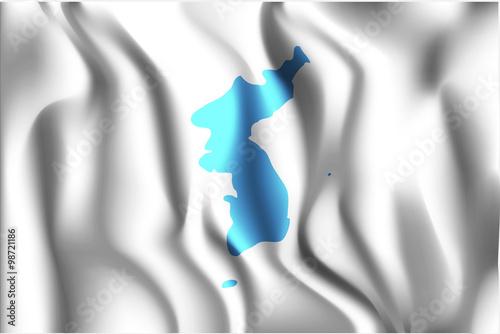 Fotografie, Obraz  Flag of United Korea. Rectangular Shape Icon