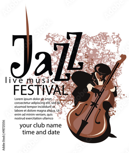 Keuken foto achterwand Art Studio Jazz poster concept.