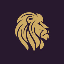 Lion Head Logo Or Icon In One ...